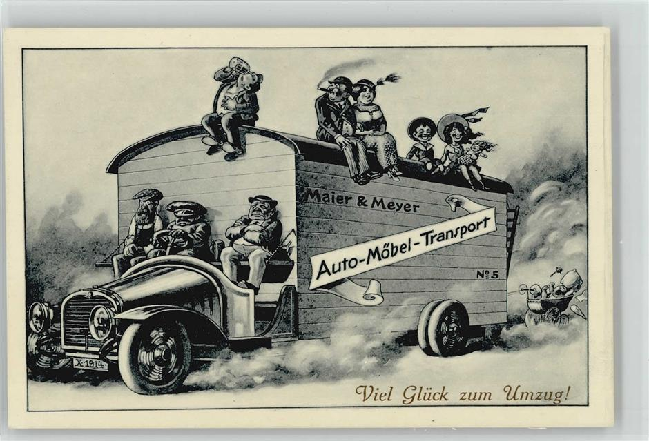 Umzug Maier Meyer Humor Ansichtskarten Center Onlineshop
