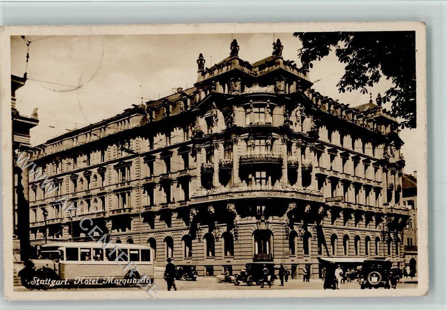7000 Stuttgart 1931 Hotel Marquardt Ansichtskarten Center Onlineshop