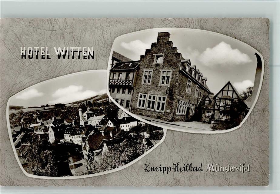5358 Bad Münstereifel Hotel Witten Ortsansicht Ansichtskarten