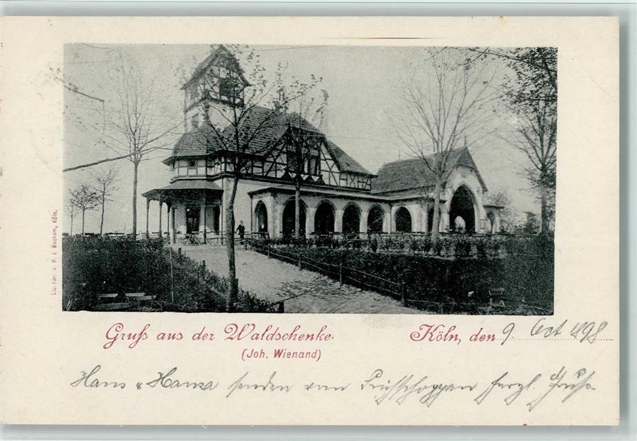 5000 Köln Stadt 1898 Dünnwald 907 Waldschenke: Ansichtskarten-Center ...