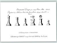 1990 Schach Ornamental Design for and of Chess Men