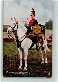 1916 Militär Großbritannien 5th Royal Irish Lancers , Drummer - Tucks 9367