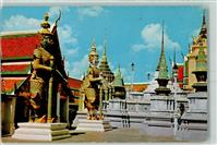 Bangkok Inside the grounds of Wat Phra Keo Emerald Buddha Tempe Thailand