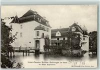 Bottmingen 1906 Hotel Schloss Bottmingen Wasserschloss