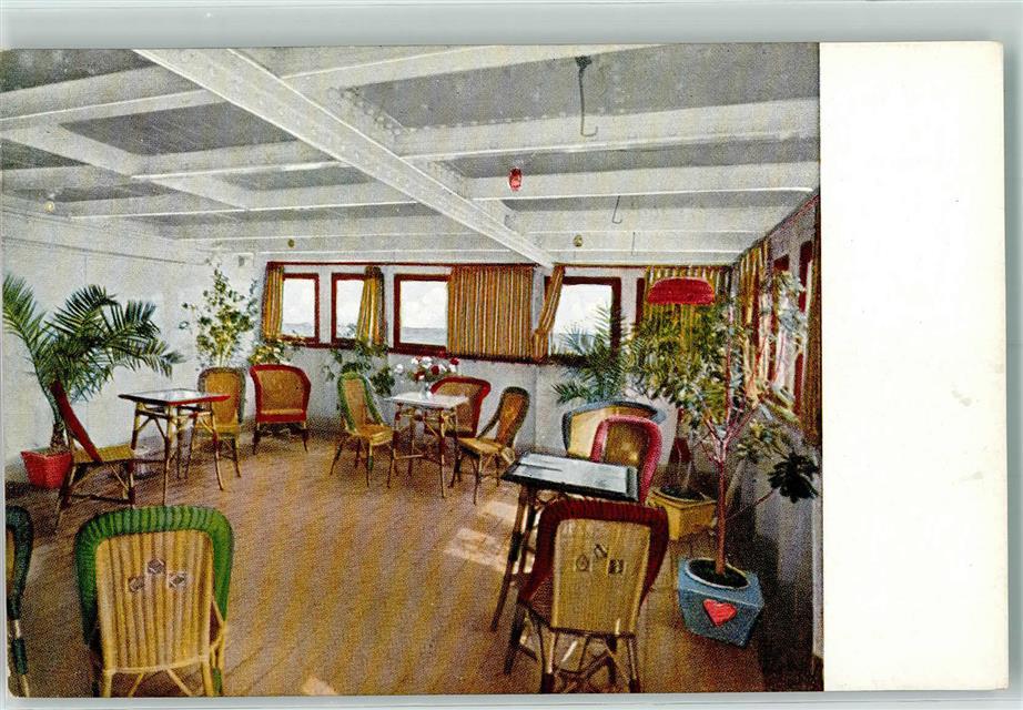 S.S. Duchessa D`Aosta , Interieur, Veranda: Ansichtskarten-Center ...
