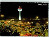 Singapore Exotic night scene of Changi Airport  Singapur