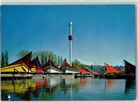 Lausanne 1964 Exposition nationale suisse 1. Le port et la tour Spiral Gewerbe- /