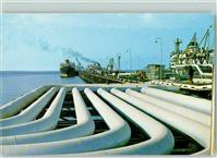 Ahmadi Pipelines which Carry Crude Oil to Tankers on the South Pier  Kuwait