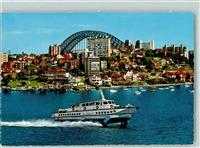 Sydney Hydrofoil Ferry with Kirribilli in Background
