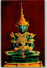 Bangkok The Image of the Emerald Buddha under summer swason attire inside Wat Phra Keo at