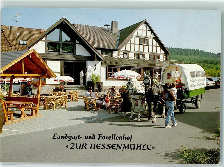 Hessen Mühle 6402 kleinlüder gasthaus zur hessenmühle pferdekutschwagen