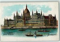 Budapest Lithographie Parlament