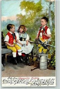 Appenzell 1904 Tracht Kinder