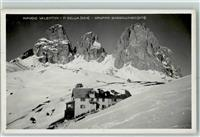 Sellajoch 1934 Hüttenstempel Sellajoch / Passo Sella
