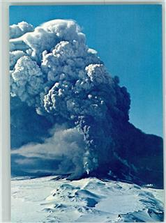 Hekla on fire 1947  AK  Vulkan