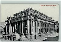Valletta 1913 Opernhaus  - +  Marineschiffspoststempel