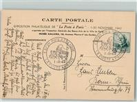Paris Sonderstempel Expon Philatelique La Poste a Paris 01. - 30. November 1942