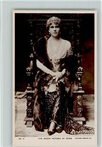 Foto AK Adel Spanien H.M. queen Victoria of Spain, Rotary Photo - 281 X, gute Erhaltung AK