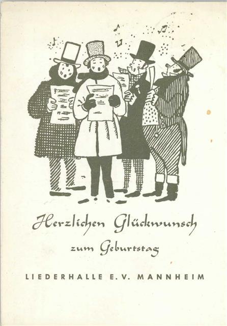 6800 Mannheim Geburtstag Singende Manner Und Frauen Liederhalle