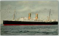 1951 S.S. Veendam  Posted on the high seas  Schiffspoststempel
