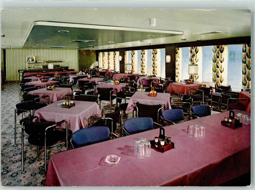Fähre M.S. Peter Pan Interieur Hansa Restaurant AK: Ansichtskarten ...