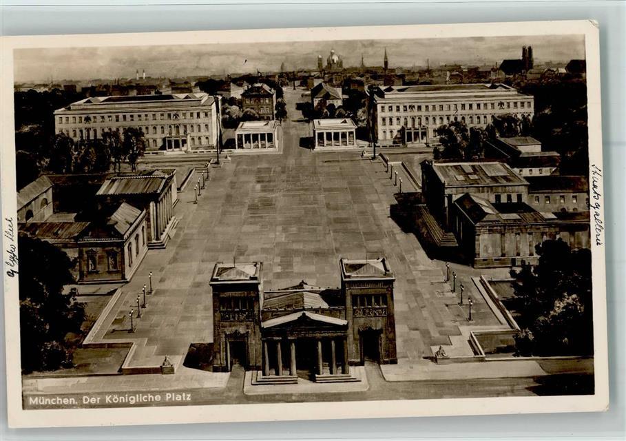 Braunes Haus 8000 münchen stadt mit hakenkreuz königlicher platz stempel