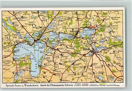 Holsteinische Schweiz Karte.2420 Eutin Landkarte Holsteinische Schweiz Ansichtskarten