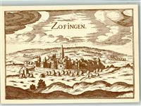 Zofingen Künstlerkarte 1655  in Tassins Description de tous les cantons...