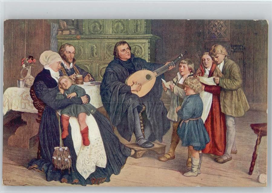 Luther Im Kreise Seiner Familie Handtasche Geldbeutel