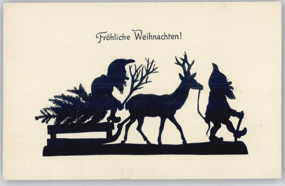 Weihnachten Scherenschnitt.Weihnachten Scherenschnitte Gnome Mit Einem Schlitten Und
