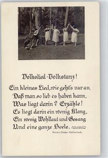 Wandervögel mit gitarren mädchen tanzen ca 1929 ak