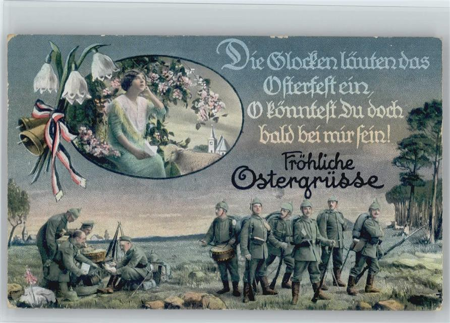 Kriegsfeiertag Ostern Schwarz Weiss Rot Schleifen Trommler