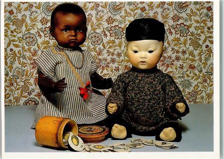 Zwei Puppen von Armand Marseille, Orientale Puppe Nr. 353,