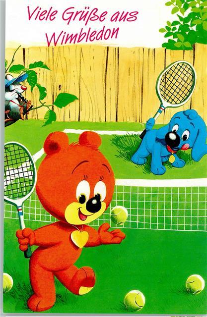 beim tennis spielen