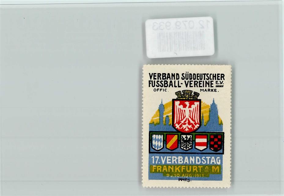 6000 Frankfurt Fussball Vignette Vereine Wappen 1