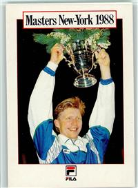 Tennis Boris Becker mit Pokal  1988 Masters New-York