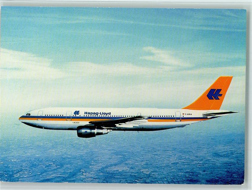 beste Qualität Gedanken an elegante Form Fluglinie Hapag-Lloyd AK Airbus A300 B4: Ansichtskarten ...