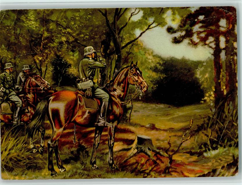 Wehrmacht wk ii fernglas reiter gasmaske kavallerie späher