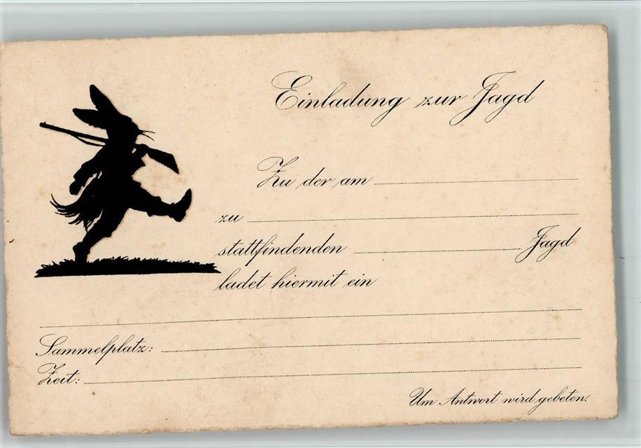 Einladung Zur Jagd 1925 Ak Ansichtskarten Center Onlineshop