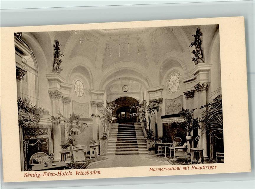 6200 Wiesbaden 1920 Sendig Eden Hotel - Innenansicht Jungendstil ...
