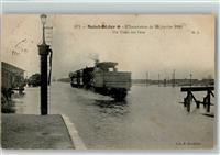 Saint-Dizier 1910 LInondation Un Train sur leau
