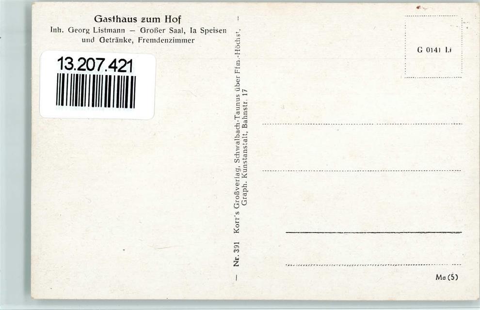 6420 Allmenrod Ortsansicht Gasthaus zum Hof von John: Ansichtskarten ...
