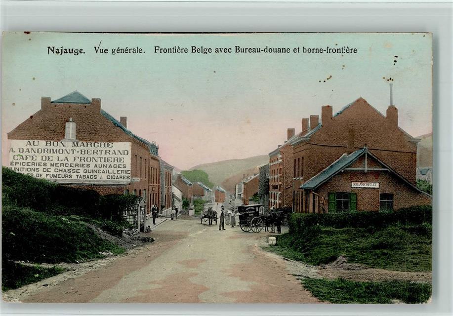 Najauge vue generale frontiere belge avec bureau douane