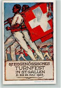 St. Gallen 57 Eidgenössisches Turnfest 1922 Karte No 2