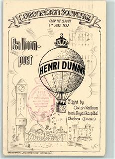 Gebrauchsspuren Ballonpost Chelsea Borough Council Received 6. Juni 1953 Town Clerks