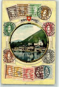 Ponte Tresa 1909 Gebrauchsspuren Eidg. Post Briefmarken Philatelie