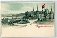 Goldach 1901 Lithographie Gasthaus Restaurant Pension Schloss Rietberg