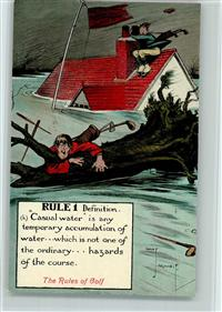 Golf Serie, The Rules of Golf  - signiert, sehr gute