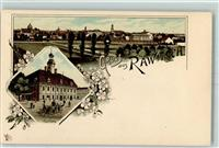 Rawitsch Lithographie Rathaus