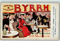 Collection BYRRH Aperitif Tonique  sign. Auguste Edelmann Jugendstil AK